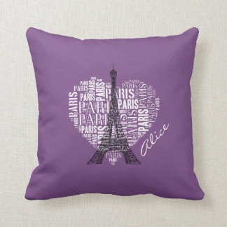 Love Paris   Adorable Eiffel Tower Throw Pillow