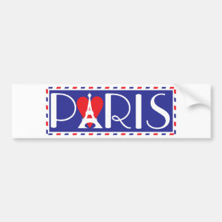 Love Paris Bumper Sticker
