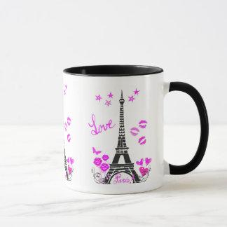LOVE PARIS EIFFEL TOWER PRINT MUG