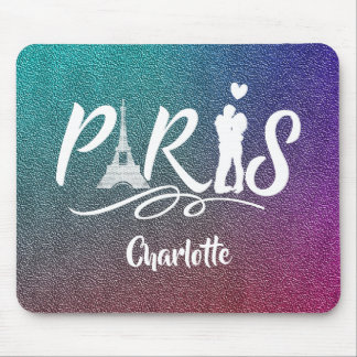 Love Paris Eiffel Tower Super Cool Personalized Mouse Pad