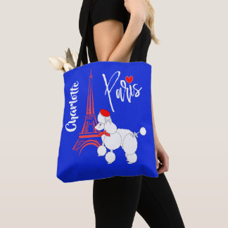 Love Paris French Poodle Super Cute Tote Bag