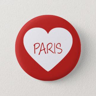 Love Paris heart 2 Inch Round Button