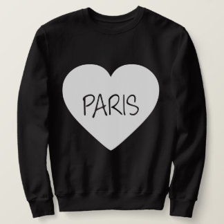Love Paris heart Sweatshirt