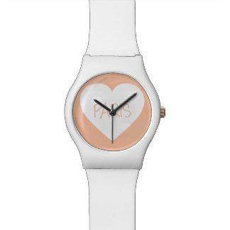 Love Paris heart Watch