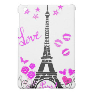 LOVE PARIS PINK EIFFEL PRINT CASE FOR THE iPad MINI
