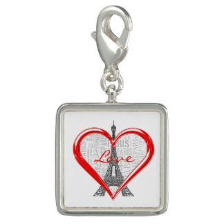 Love Paris | Red Heart Charm