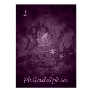 Love Park in Purple Rose (I Love Philadelphia) Poster