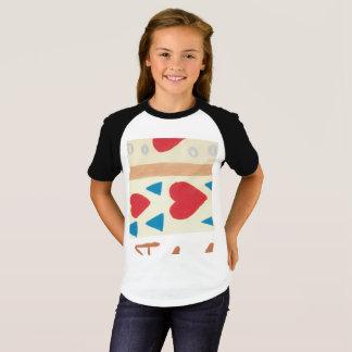 Love Path Girls' Short Sleeve Raglan T-Shirt