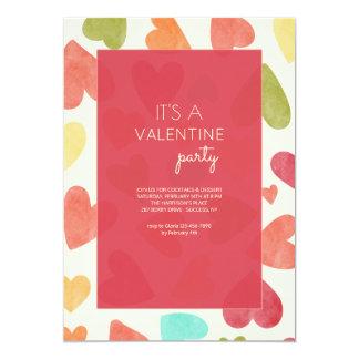 Love Pattern Valentine's Day Invitation