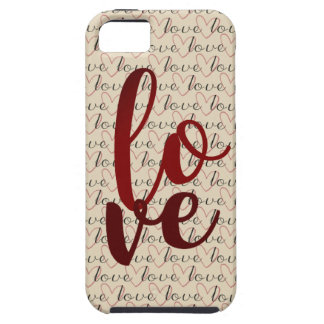 Love Pattern Word Hearts iPhone 5 Covers
