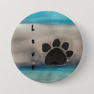 Love Paw Print Button