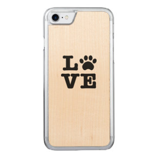 Love Paw Print Carved iPhone 8/7 Case