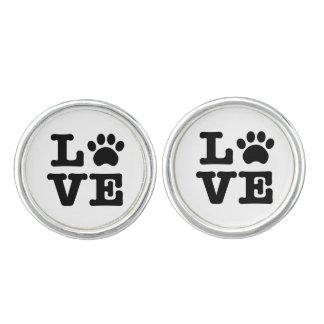 Love Paw Print Cufflinks
