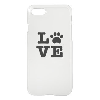 Love Paw Print iPhone 8/7 Case