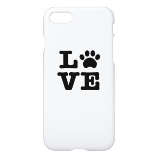 Love Paw Print iPhone 8/7 Case