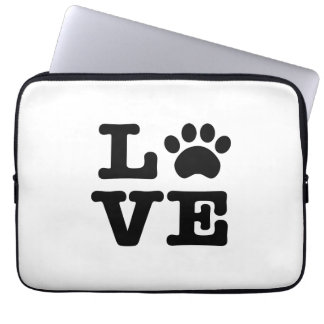 Love Paw Print Laptop Sleeve