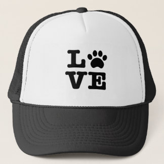 Love Paw Print Trucker Hat