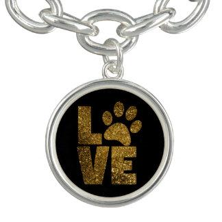 Love Pawprint Charm Bracelet