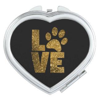Love Pawprint Compact Mirror