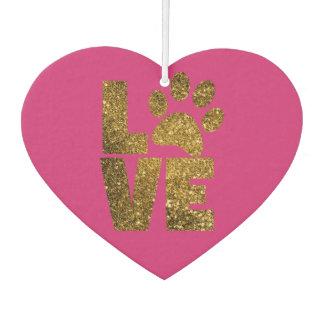 Love Pawprint Custom Heart Air Freshener
