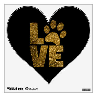 Love Pawprint Wall Decal