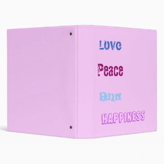 Love, Peace, And, Happiness Binder