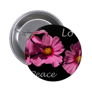 Love Peace and Joy 2 Inch Round Button