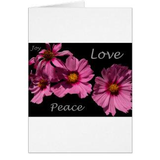 Love Peace and Joy Greeting Card