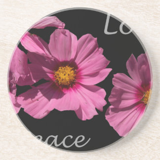 Love Peace and Joy Beverage Coasters