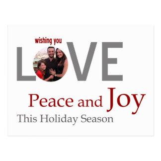LOVE Peace and JOY customized greeting card