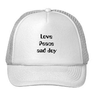 Love, Peace and Joy Trucker Hats