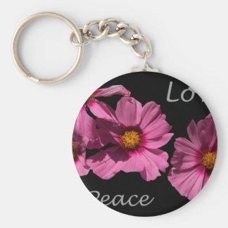 Love Peace and Joy Basic Round Button Keychain
