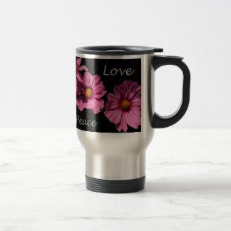 Love Peace and Joy Stainless Steel Travel Mug