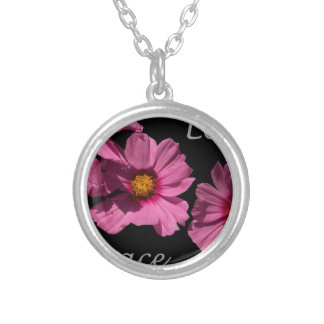 Love Peace and Joy Round Pendant Necklace