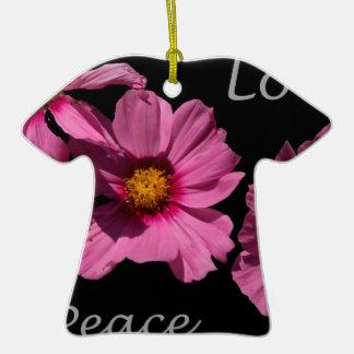 Love Peace and Joy Ceramic T-Shirt Ornament