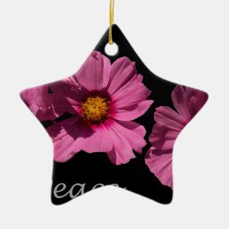 Love Peace and Joy Ceramic Star Ornament