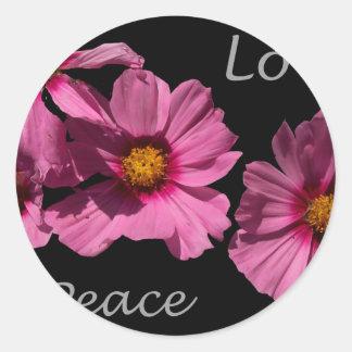 Love Peace and Joy Round Sticker