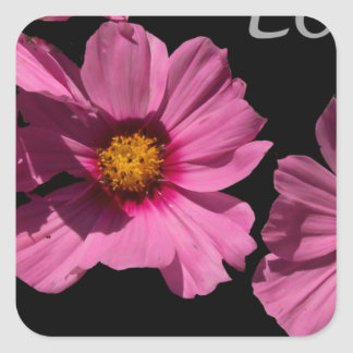 Love Peace and Joy Square Sticker