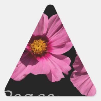 Love Peace and Joy Triangle Sticker