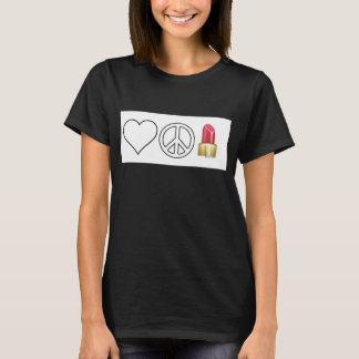 Love, Peace and Lipstick T-Shirt