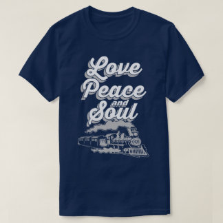 Love Peace And Soul Music Pop Disco Slogan T-Shirt
