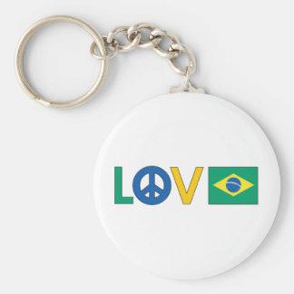 Love Peace Brazil Keychain