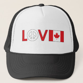 Love Peace Canada Trucker Hat