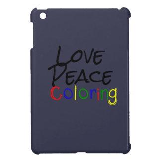 Love Peace Coloring iPad Mini Cases