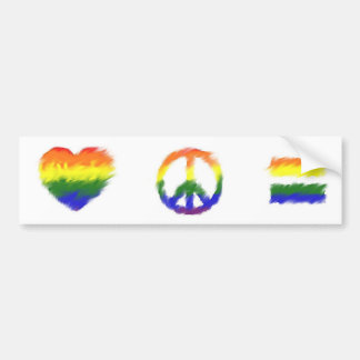 Love Peace Equality Bumper Sticker
