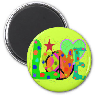 Love PEACE & Harmony T-Shirts and Gifts 2 Inch Round Magnet