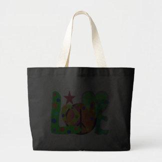 Love PEACE & Harmony T-Shirts and Gifts Jumbo Tote Bag