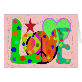 Love PEACE & Harmony T-Shirts and Gifts Greeting Card