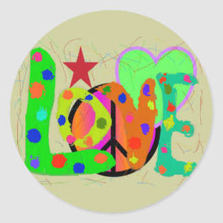 Love PEACE & Harmony T-Shirts and Gifts Round Sticker