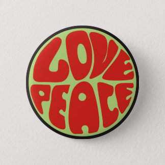 love peace hippie saying 2 inch round button